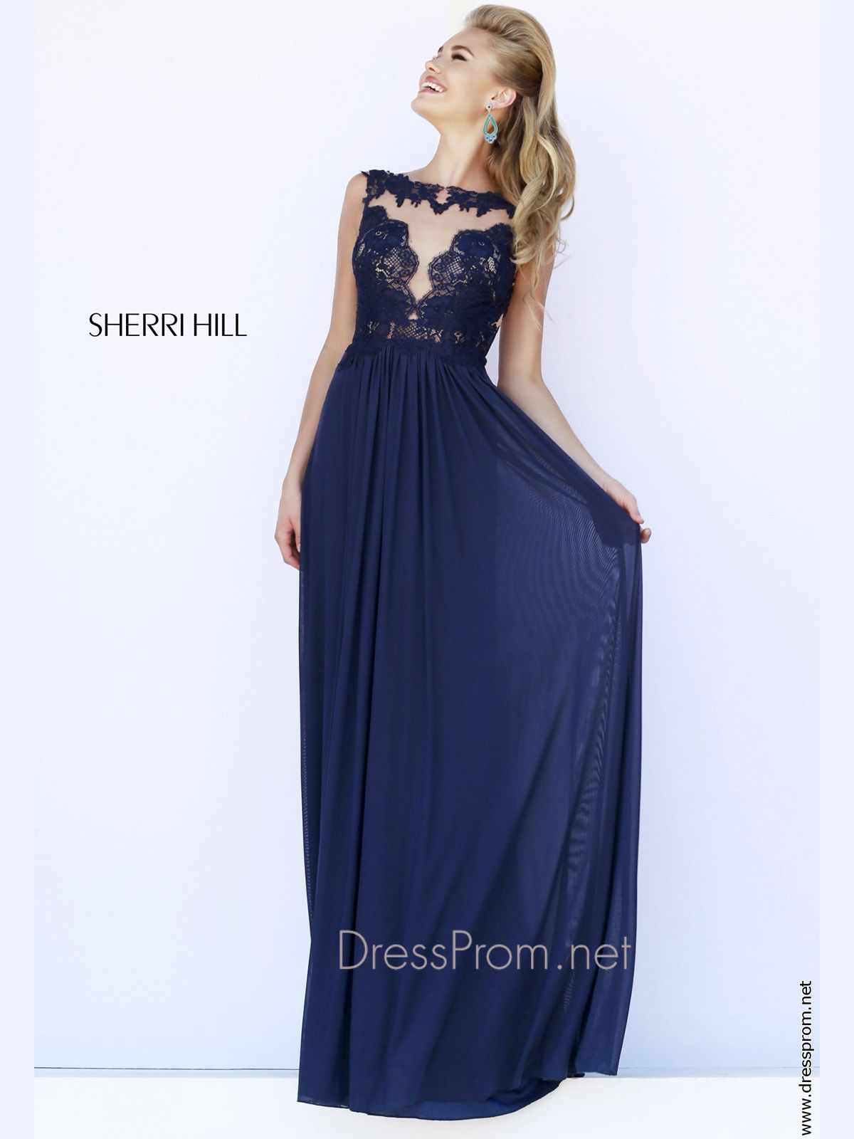 Make a statement in this romantic prom dress designed by sherri