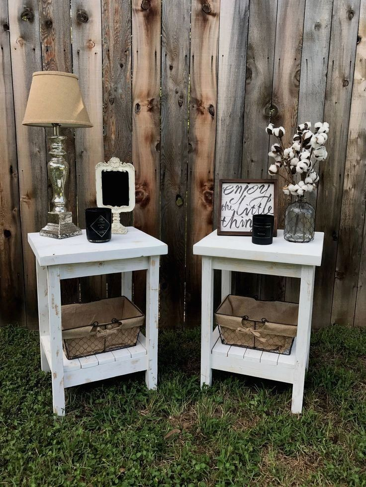 End Table Night Stand Farmhouse Decor by