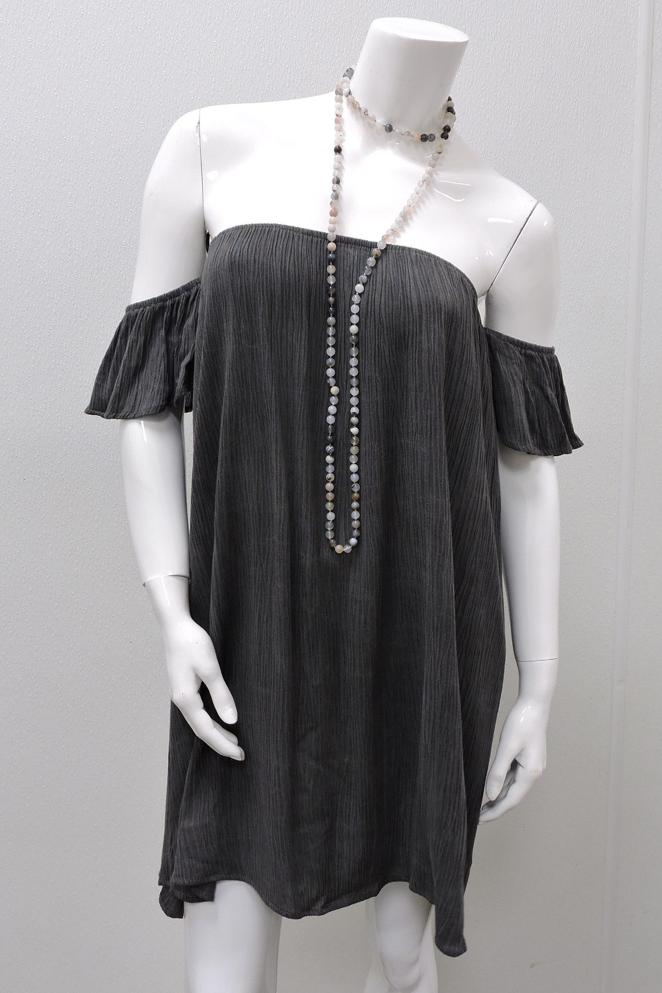 Crepe Off Shoulder Dress