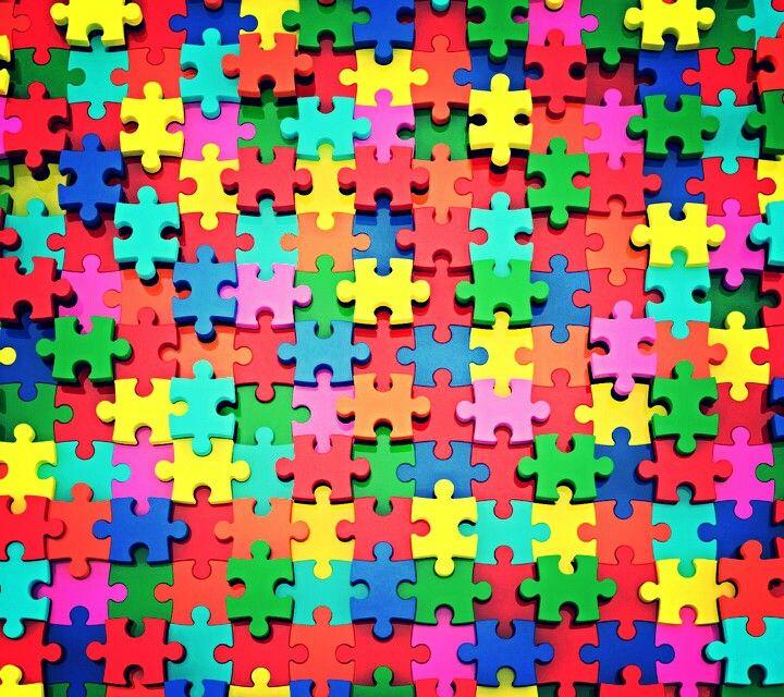 Colorful Puzzle Pieces Wallpaper Background