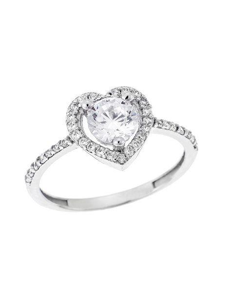 Μονόπετρο Λευκό 14Κ με Ζιργκόν Αναφορά 022808 Δαχτυλίδι γάμου ή αρραβώνα  που μπορείτε να χαρίσετε σε 57527ac944b