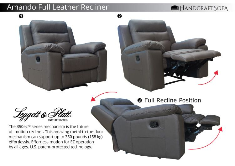 The Amando Full Leather Recliner Sofa Best Deal Rm1888 Italian Design Genuine Full Leather Premium Handcraf Leather Recliner Leggett And Platt Recliner