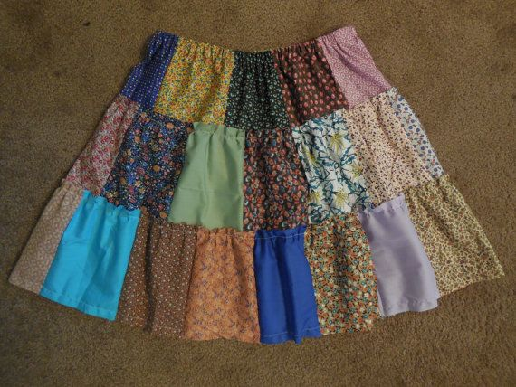 Patch Skirt size L by ClothingTheRedeemed on Etsy