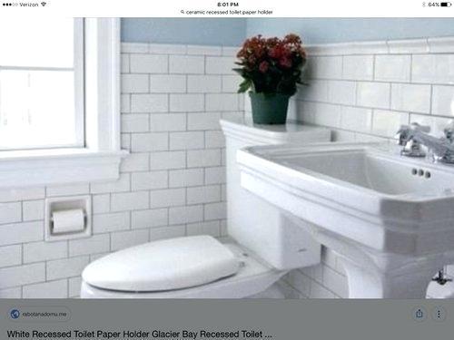 White Ceramic Recessed Toilet Paper Holder Porcelain Recessed Toilet Paper Holder Toilet Paper Holder Toilet Paper