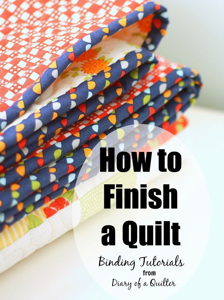 How to Finish and Bind a Quilt | Blog, Quilt binding and Sewing ... : finishing quilt binding by machine - Adamdwight.com