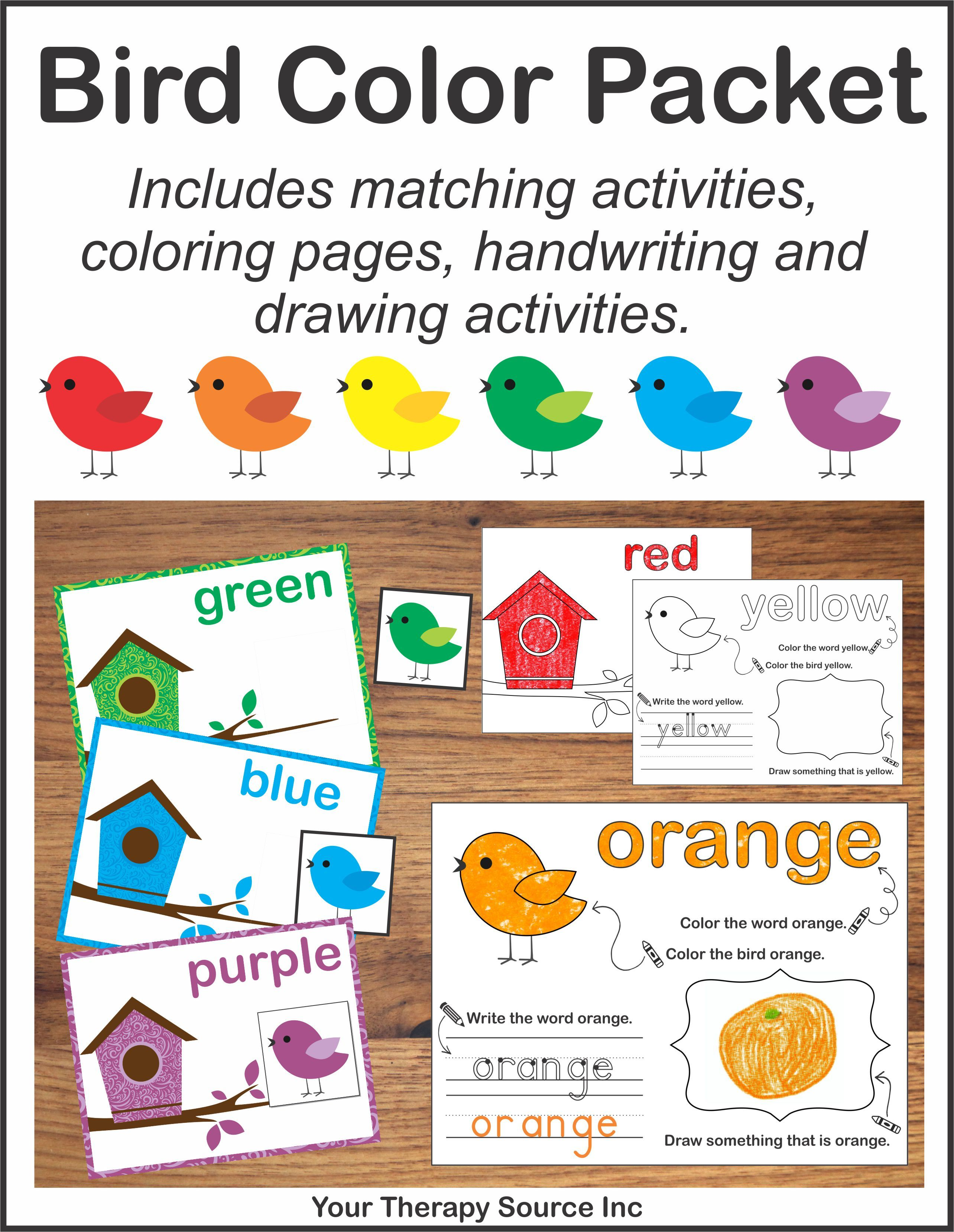 Bird Color Packet
