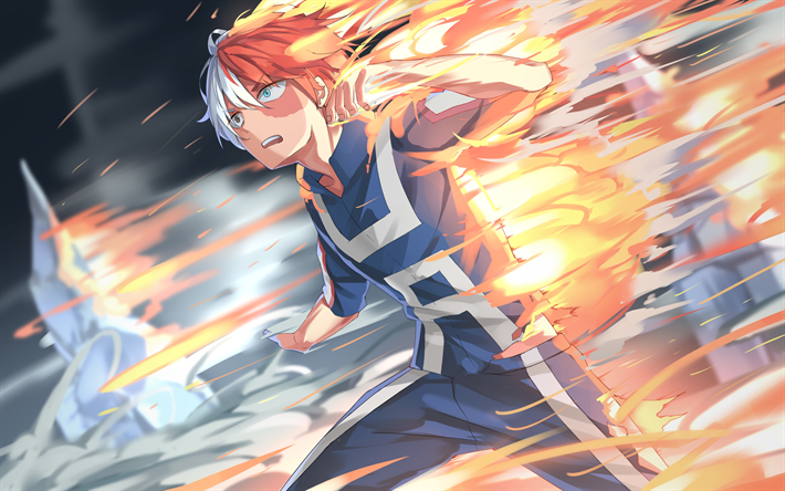 Download Wallpapers Shouto Todoroki 4k Manga My Hero Academia Boku No Hero Academia Besthqwallpapers Com Hero Anime My Hero Academia