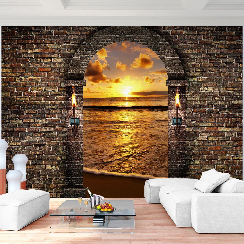 Fototapete Vlies 3d Fensterblick Steinwand Meer Tapete Wandbilder Xxl Eur 29 99 Living Room Paint Design Bedroom Wall Designs Wall Wallpaper