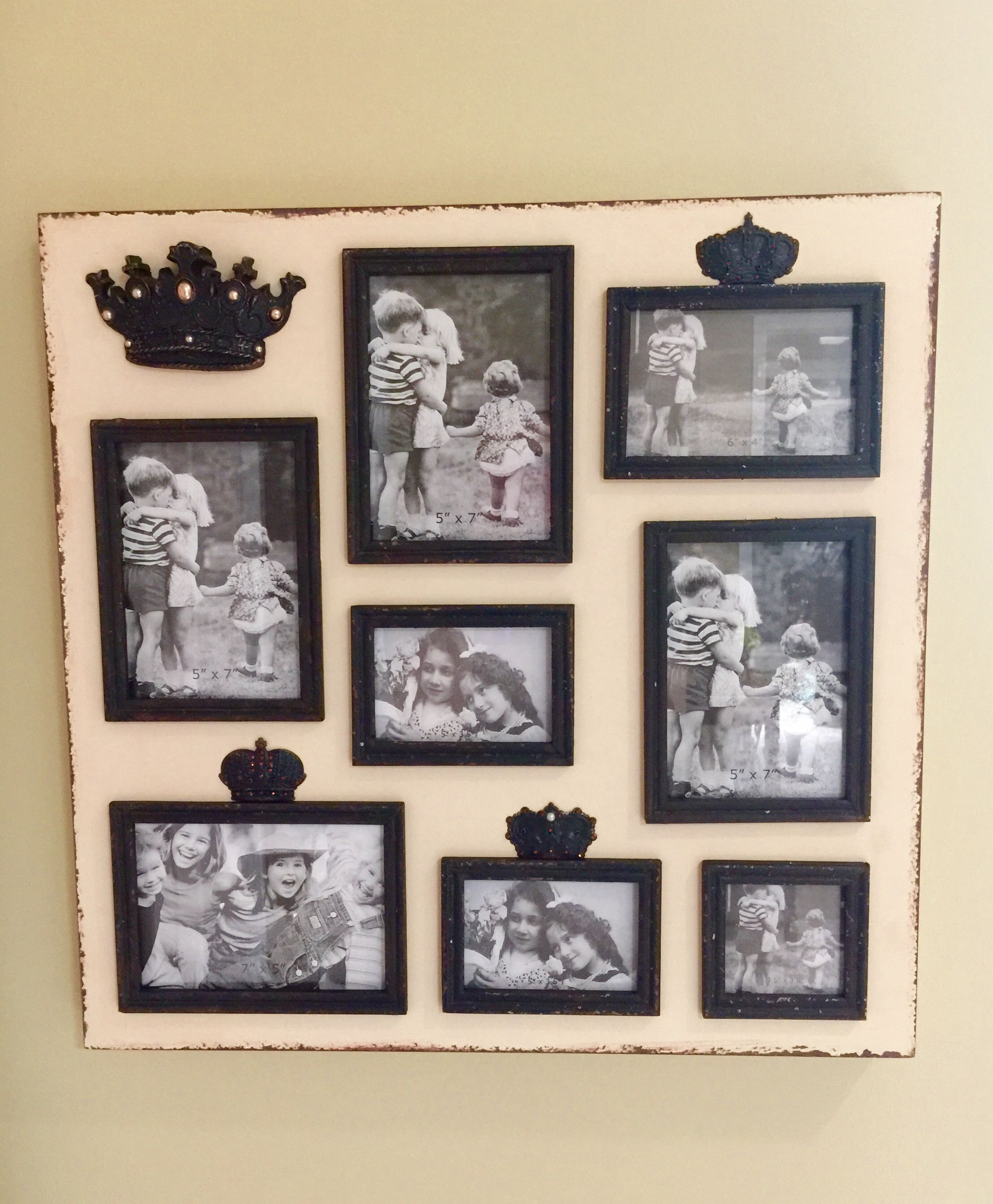 Picture Frame Collage With Crowns And Embellishment Found At Tuesday