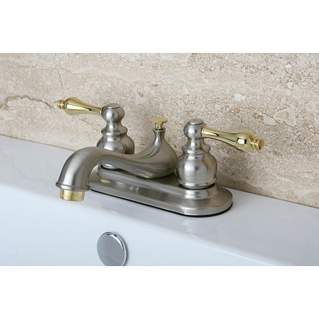 Metropolitan Chrome/ Brass Widespread Bathroom Faucet (Porcelain ...