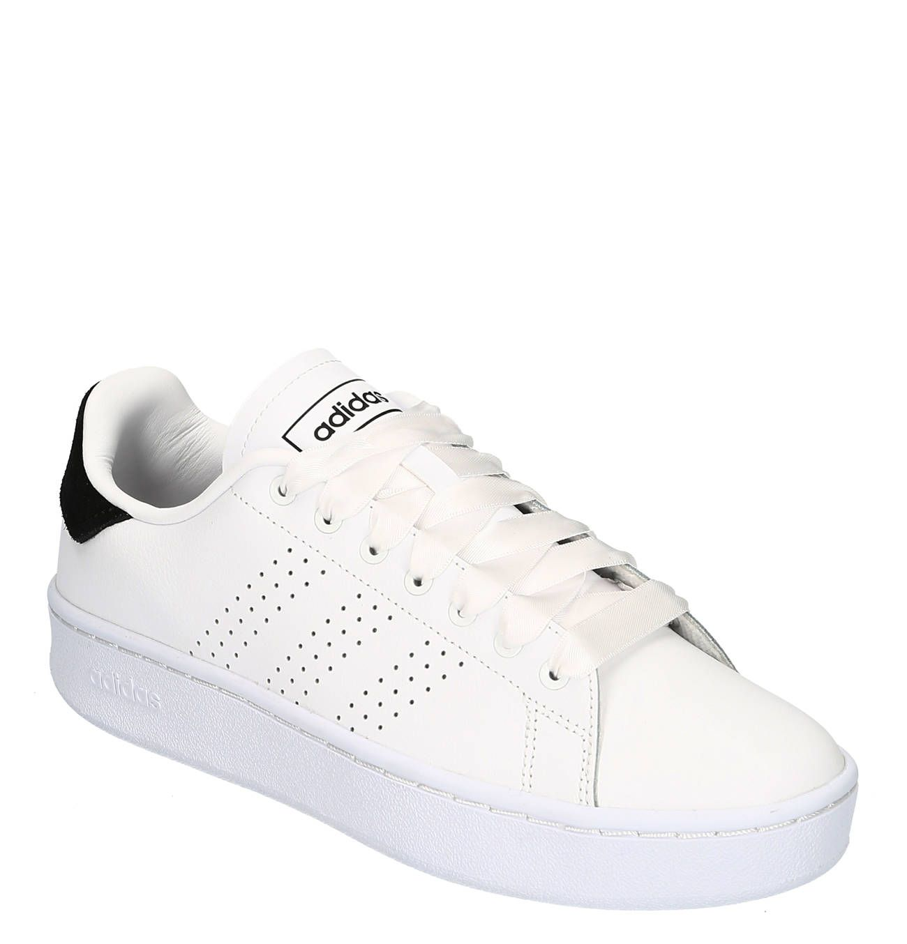 Sneaker Advantage Bold Leder Kontrast Detail Breite Schnursenkel Sneaker Adidas Sneaker Damenschuhe Sneaker