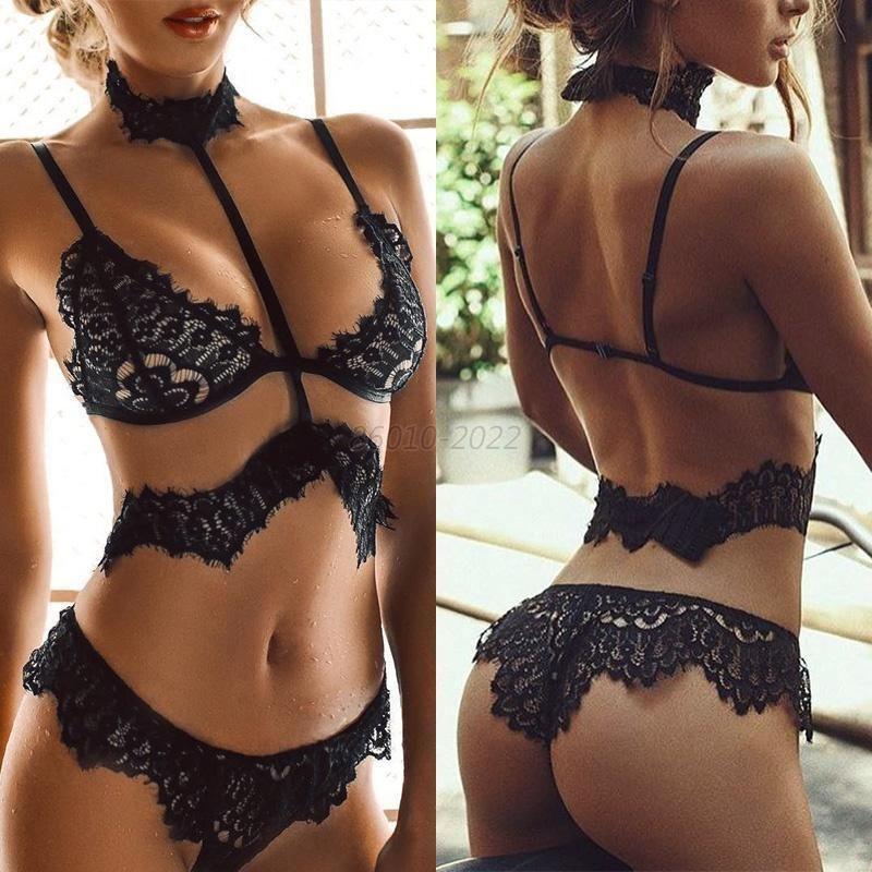 aaf170070d50 Women Lace Push Up Vest Tops Bra + Panties Set Underwear Knickers Suit Plus  Size