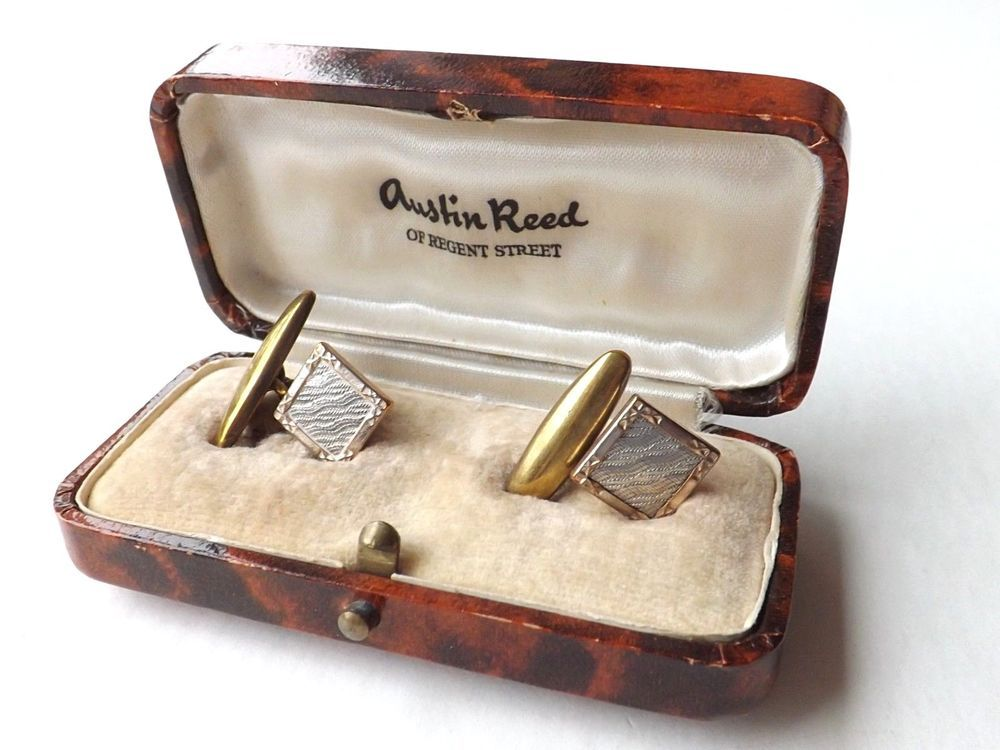 Vintage Austin Reed Early 20th Century Bar Link Cufflinks Gold And Silver Tone Austinreed Gold Cufflinks Cufflinks Austin Reed