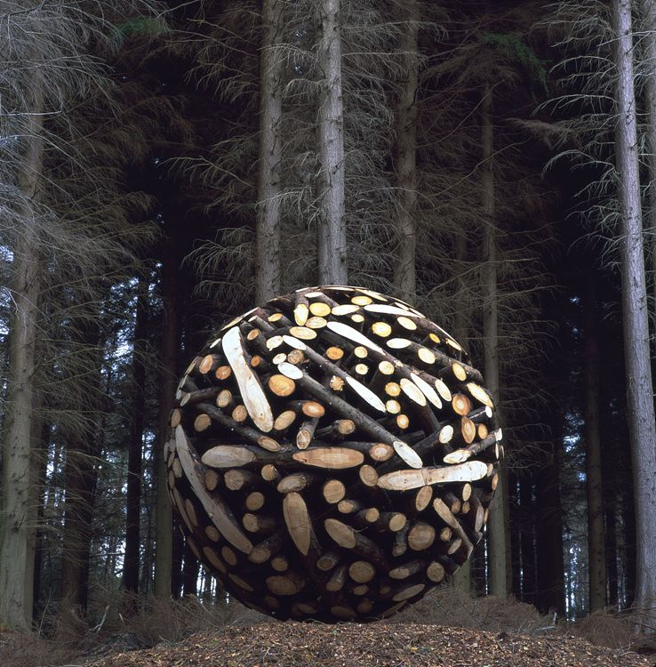 giant wooden ball in the forest :)