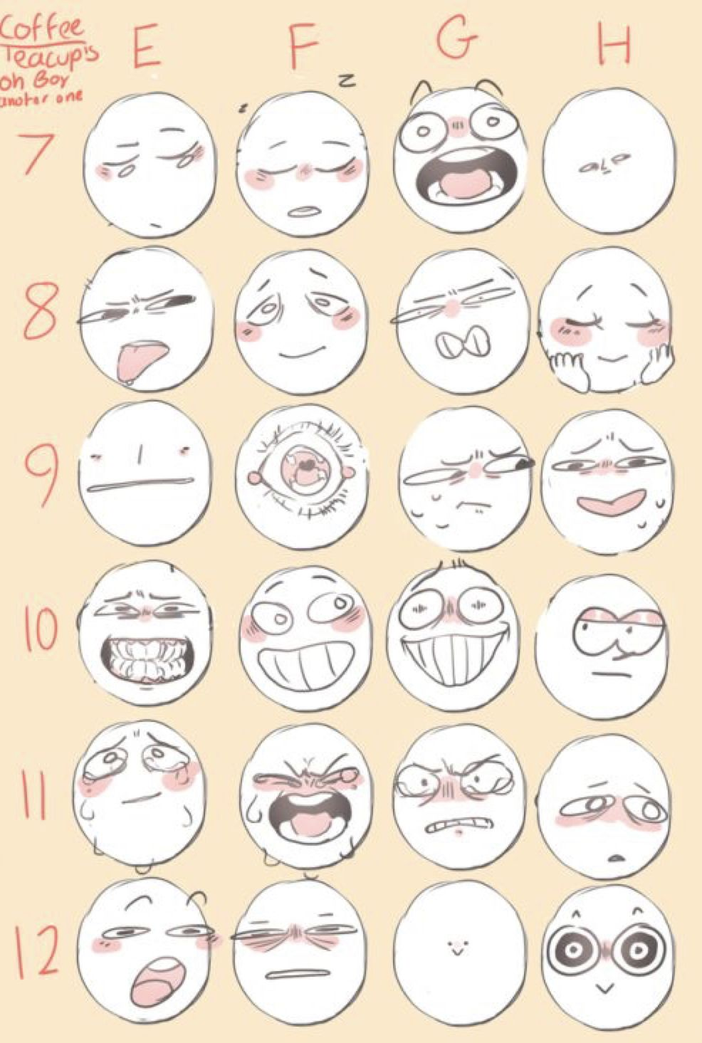 Pin By Rosey Life On Color Palette In 2020 Drawing Expressions Facial Expressions Drawing Drawing Face Expressions