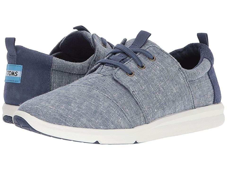 TOMS Del Rey Blue Slub Chambray Womens Lace up casual Shoes With every pair of shoes you purchase TOMS will give a new pair of shoes to a child in need One for One The TO...