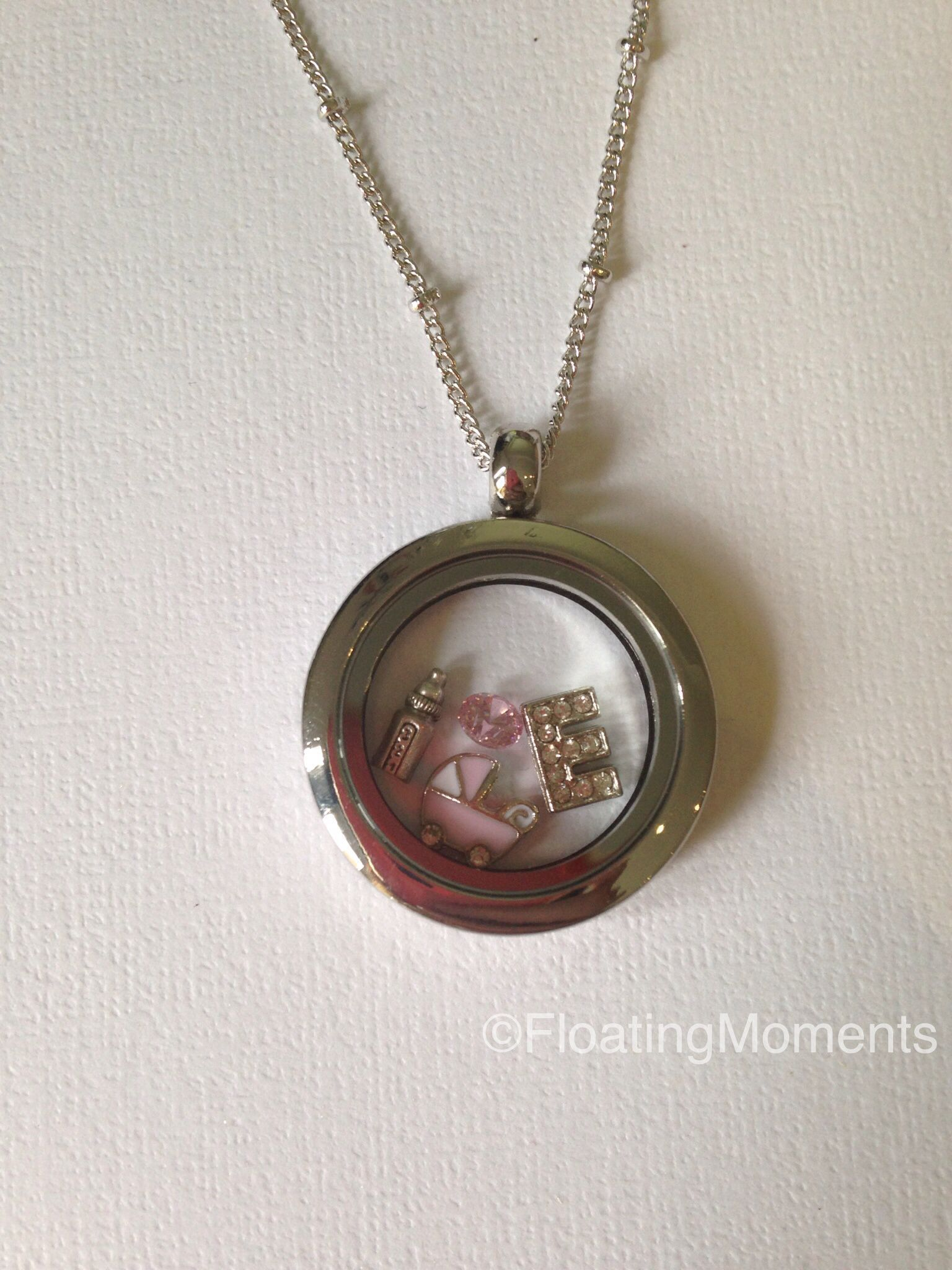 lockets heart mother pendant sterling child baby in silver
