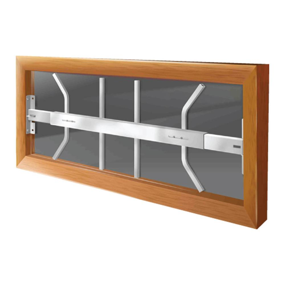 Mr Goodbar 29 In To 42 In Adjustable Width 1 Bar Window Guard White Powder Coated White Window Security Bars Window Security Window Bars