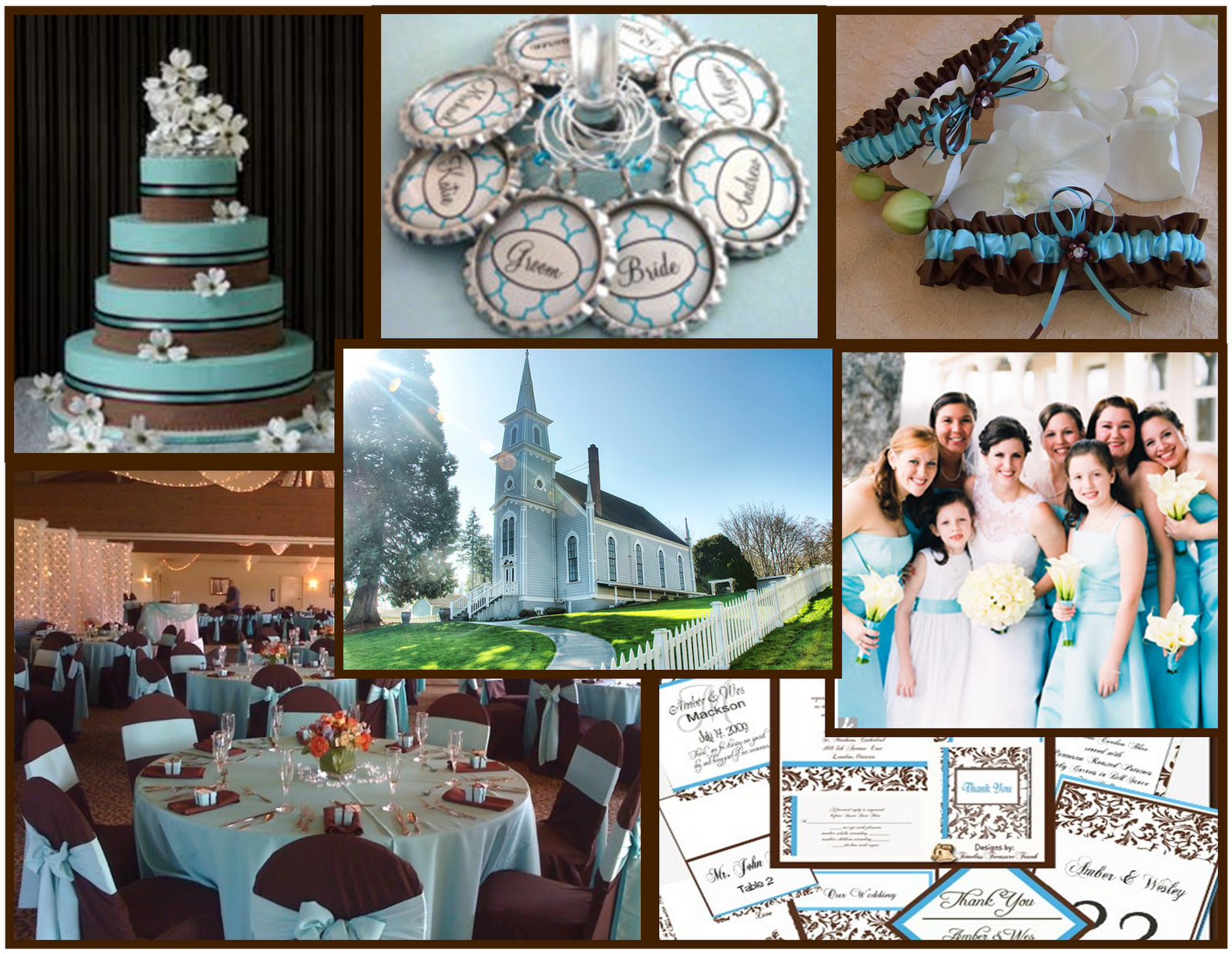 Tiffany Blue And Red Wedding Invitations: Chocolate And Blue Wedding Theme