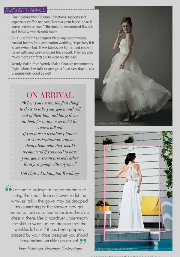 "Roz la Kelin Destination Weddings. The Stunning ""Cashmere"" gown."