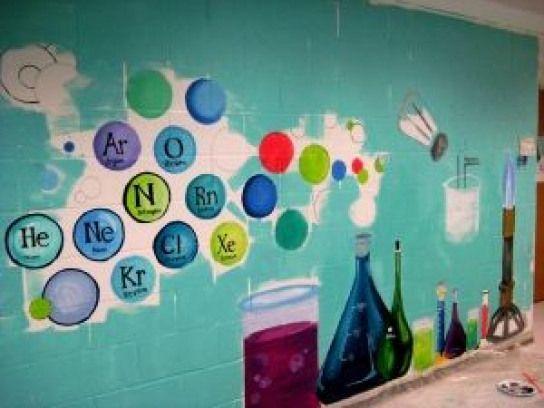 Photo of Chemie-Panel in riesigen Sätzen von Wandmalereien