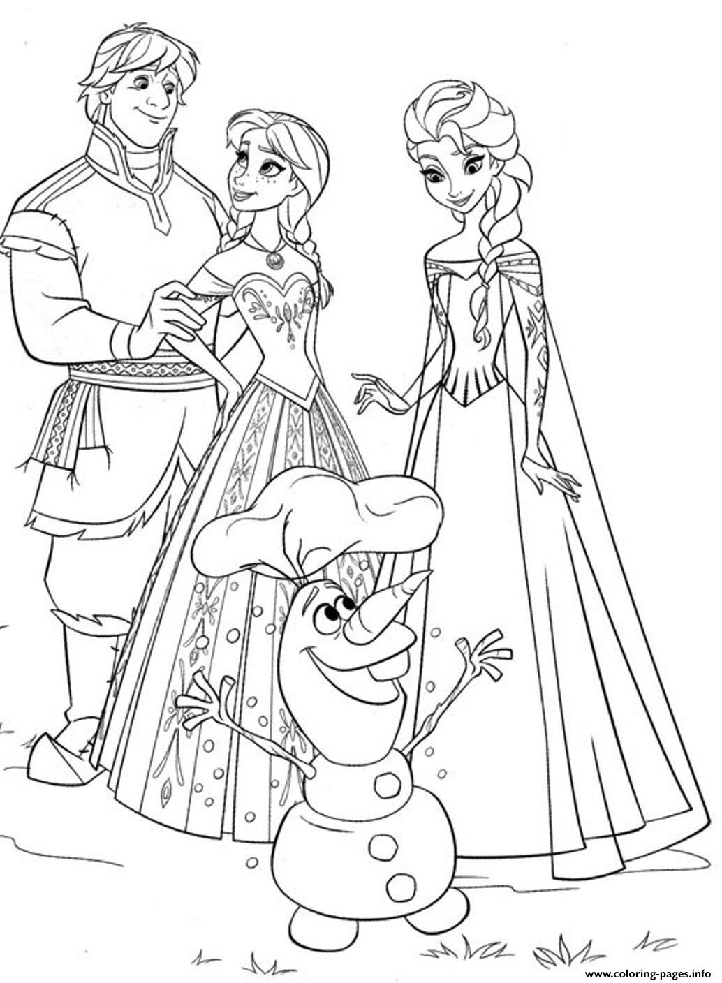 Print Frozen Family4eec Coloring Pages Frozen Coloring Pages Kids Coloring Books Disney Coloring Pages