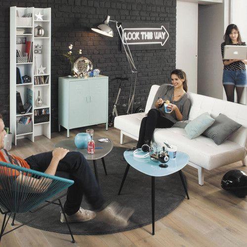 colonne biblioth que blanche biblioth que blanche maison du monde et biblioth que salon. Black Bedroom Furniture Sets. Home Design Ideas