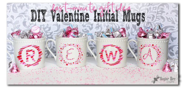 Diy Valentine Initial Mugs Diy Valentine Initials And Bee Crafts