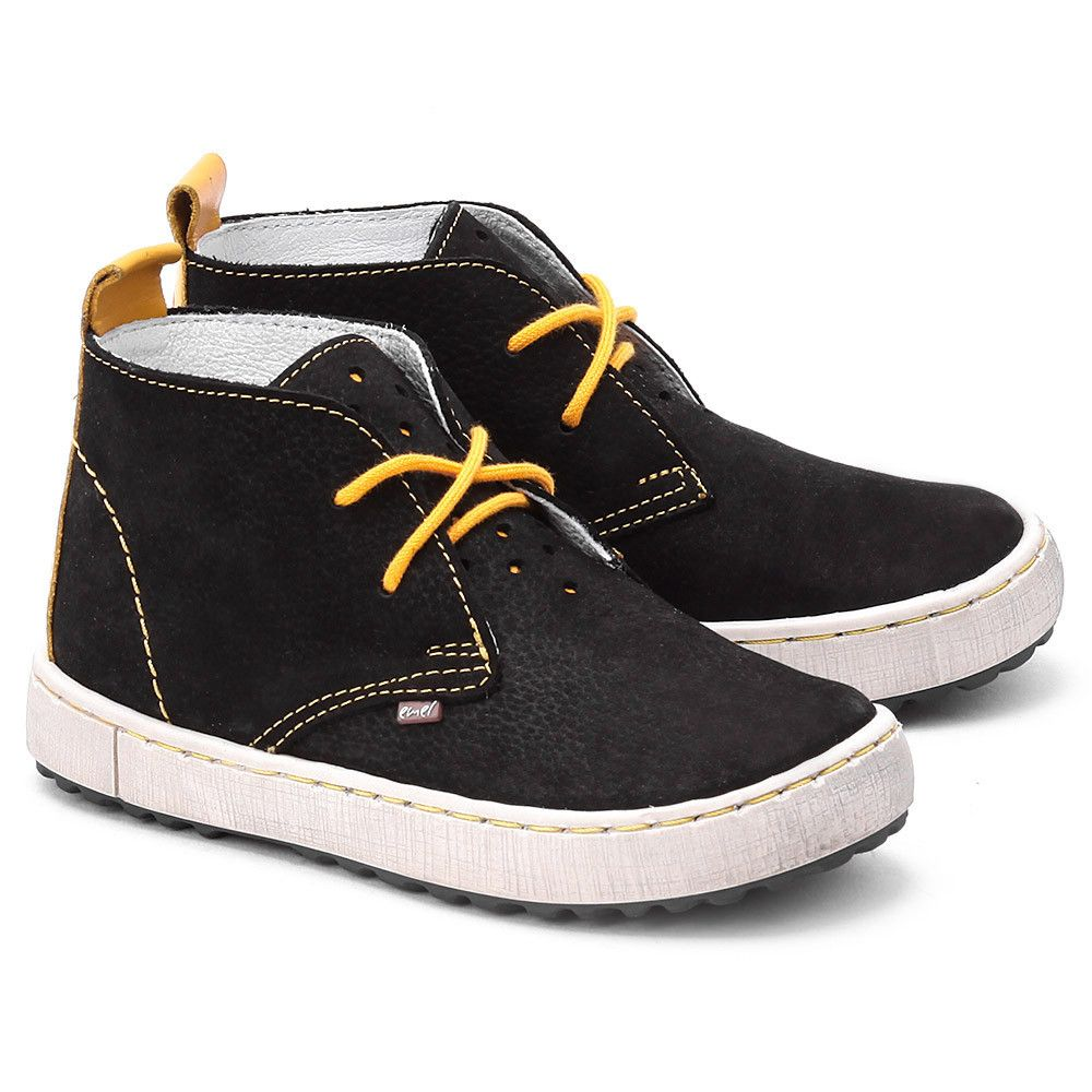 Emel Roczki Czarne Nubukowe Trzewiki Dzieciece E2128 5 E2128 5 Buty Dzieci Trzewiki I Polbuty Mivo Chukka Boots Boots Shoes