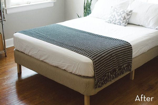 How To Turn Box Springs Into A Modern Diy Platform Bed