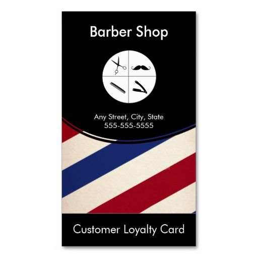 Barber shop loyalty business card punch card barber shop business barber shop loyalty business card punch card flashek Choice Image