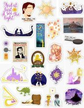 Photo of Tangled Stickers  Tangled stickers rapunzel long hair flynn rider smolder flyn r…