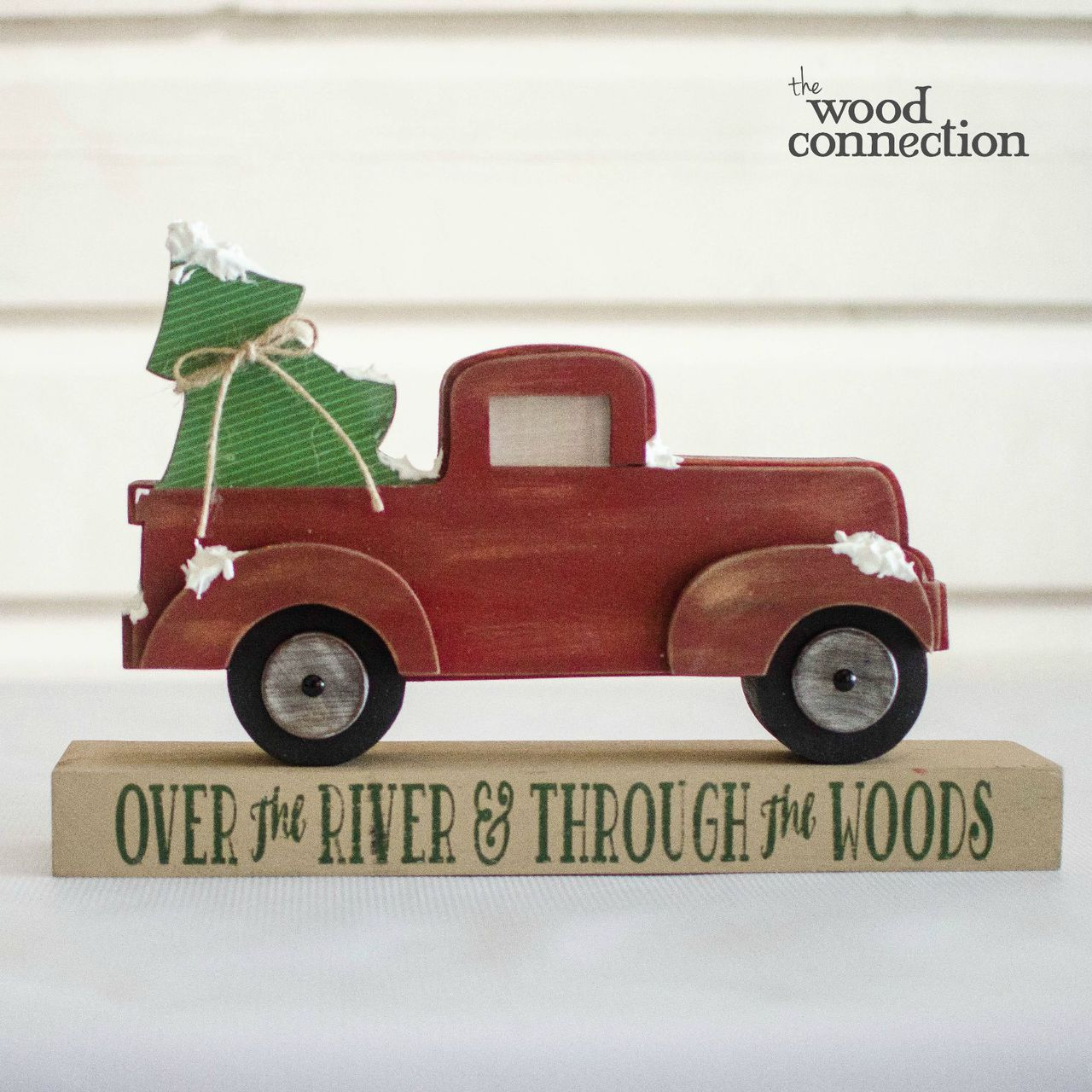 Unfinished DIY Wooden Truck Cutout with Christmas Signs Paint Your own Truck