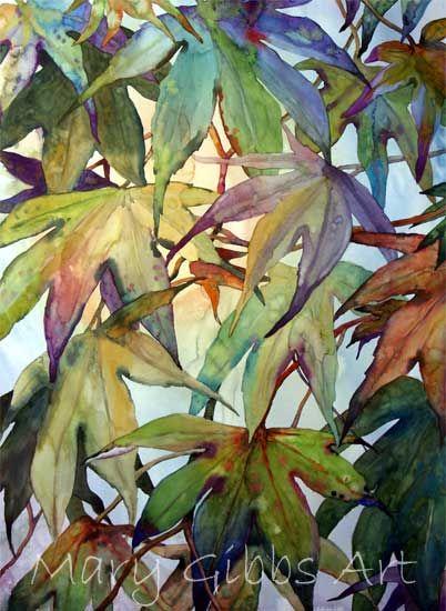 Leaves Mary Gibbs Art Watercolor Flowers Flower Painting