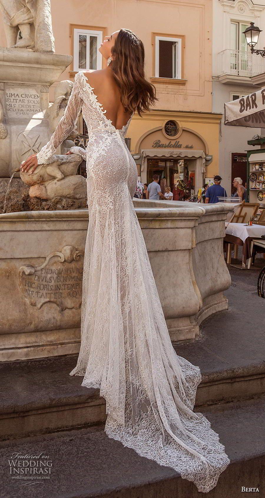 Berta Privee 2020 Wedding Dresses Amalfi Bridal Collection No 3 Wedding Inspirasi Long Sleeve Mermaid Wedding Dress Lace Bridal Gown Wedding Dress Long Sleeve [ 1688 x 900 Pixel ]