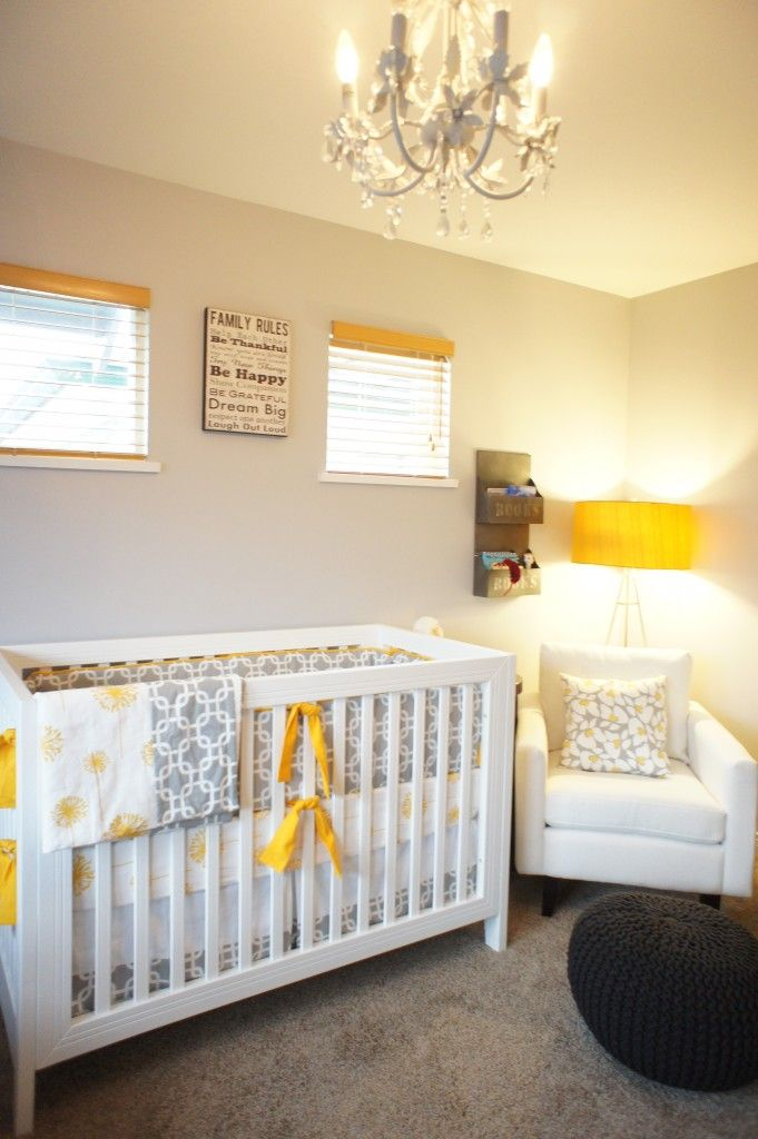 Gender Neutral Nursery Grey White Mustard Gender Neutral Nursery Grey Baby Room Gray Gender Neutral Nursery