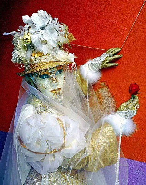 My white costume during VENICE CARNIVAL