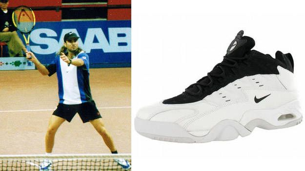 nike tennis shoes agassi