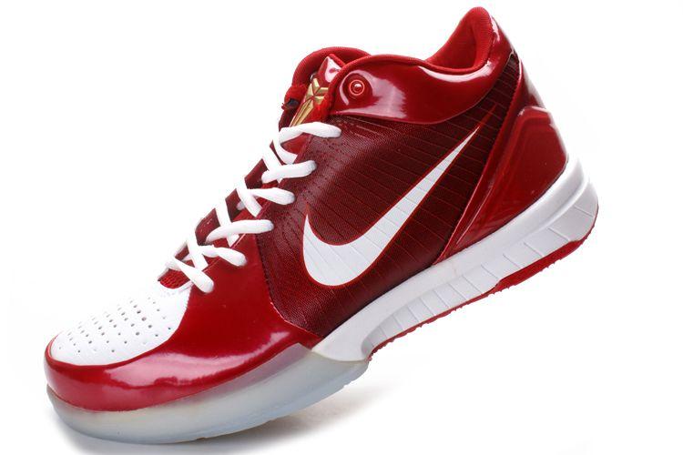 super popular 513c1 b1798 Nike Zoom Kobe 4 (IV) Red White Gold Shoes