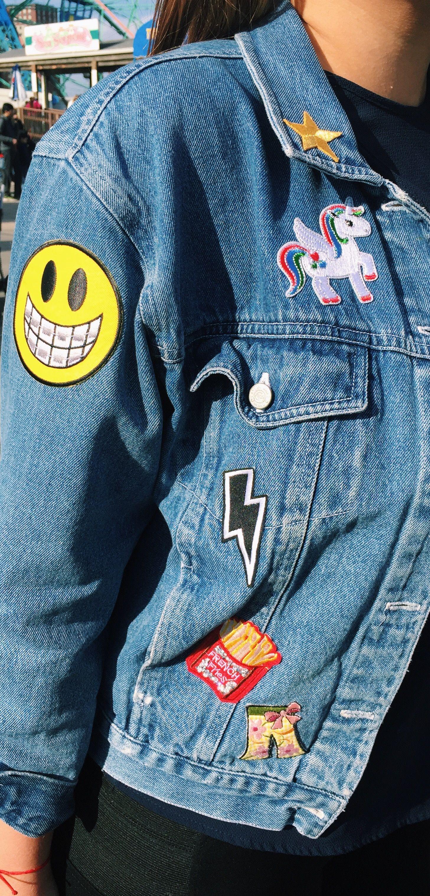 Diy Trend Patched Denim Jacket Sabor With Style Denim Jacket Patches Denim Jackets [ 3036 x 1457 Pixel ]