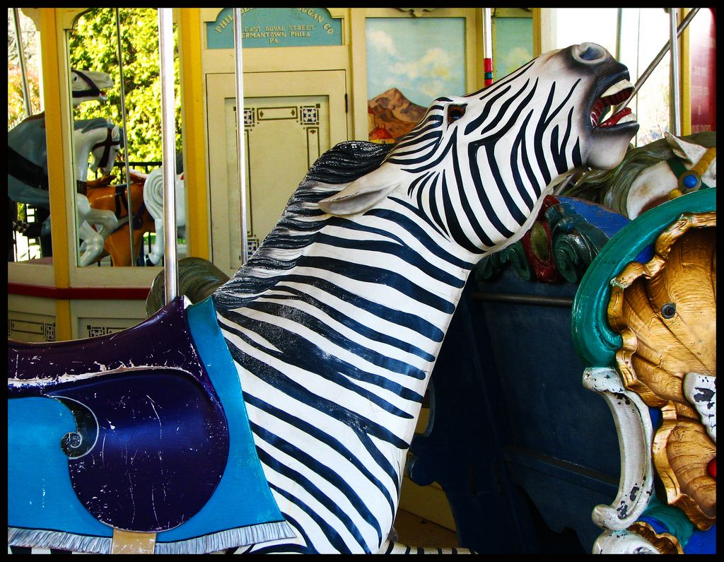 National carousel association denver zoo carousel african wild dog - Philadelphia Toboggan Company Carousel Zebra At The Louisville Zoo In Louisville Kentucky