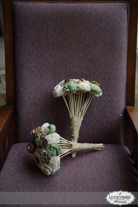 Bartz Viviano wooden bouquets, flower alternative bouquets - Photos by Luckybird Photography