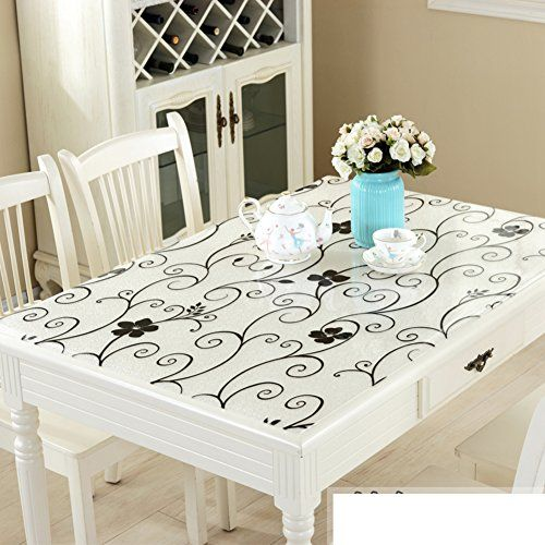 Pvc Tablecloth Waterproof Anti Hot Table Mat Transparent Tea Mat F 80x80cm 31x31inch Coffee Table Mat Table Cloth Table Mats