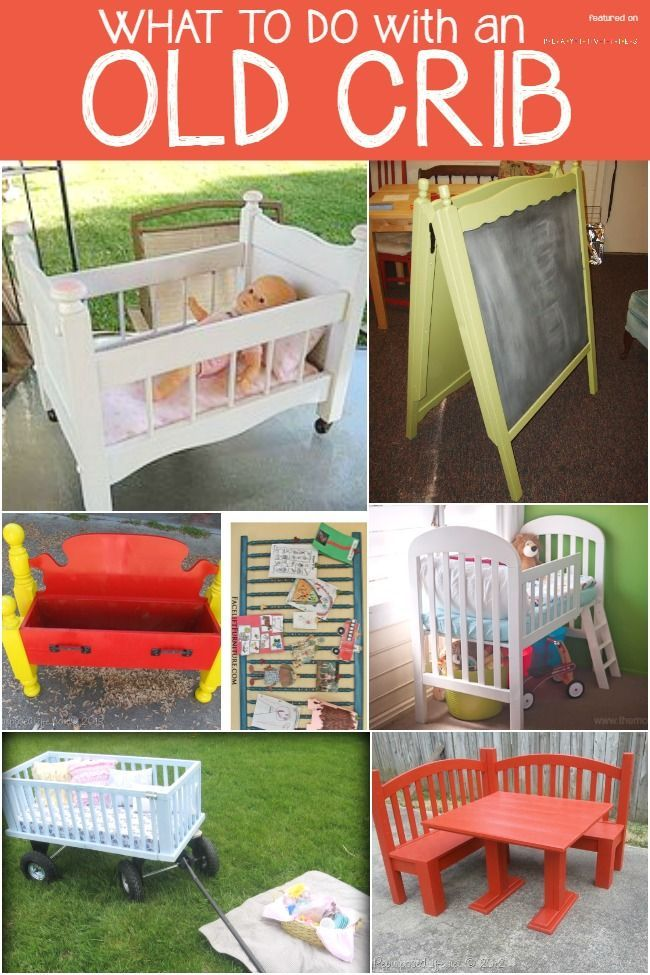 30 Fabulous Diy Decorating Ideas With Repurposed Old Suitcases: Old Cribs, Repurposed Furniture, Kids Furniture