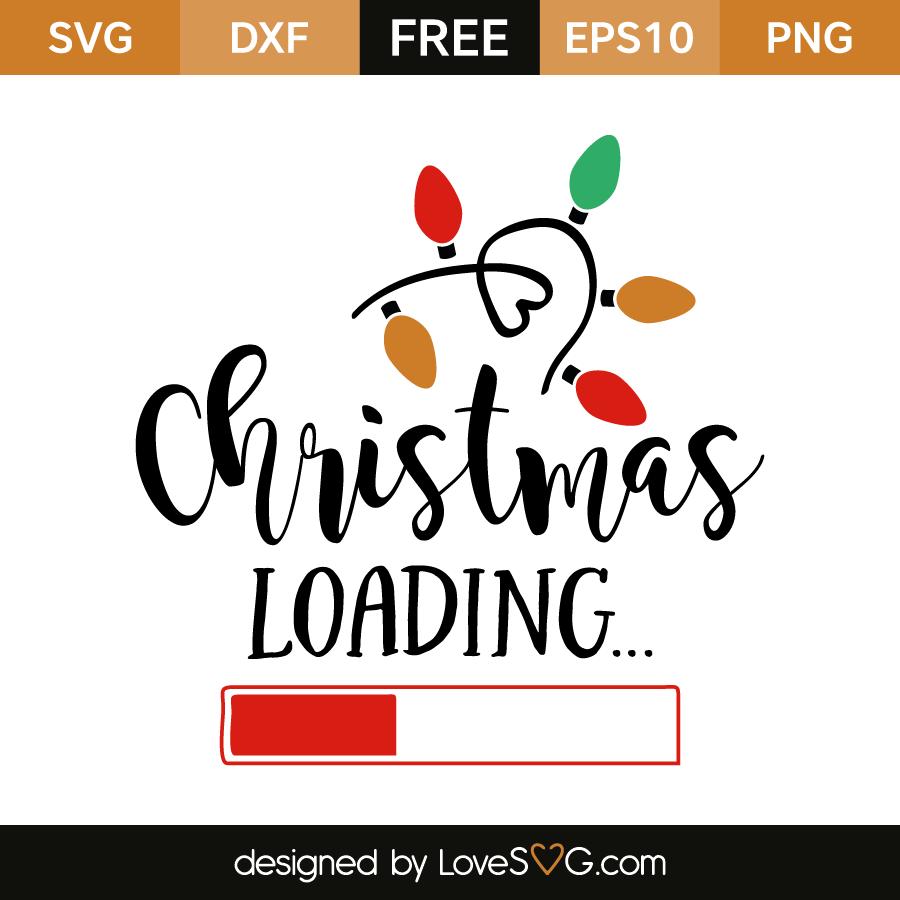 1136 Christmas Loading Svg
