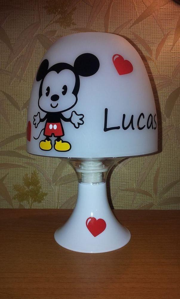 Sur Chevet Personnalisée Mickey Ou Minnie Détails Lampe De Kl1JcTF3