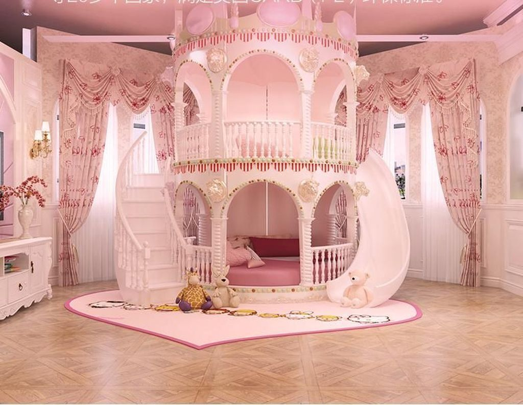 30 Impressive Girls Bedroom Ideas With Princess Themed Girls Princess Room Castle Bed Girl Bedroom Decor