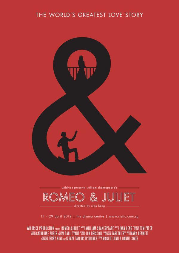 Tenya : This Romeo and Juliet poster has uses the sense of