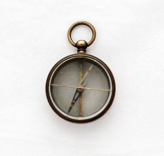 Vintage British Desk Compass Brass Compass Perfect Gift Pocket