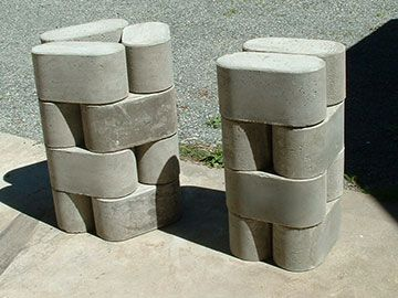 make own forms for left over job site concrete for wall